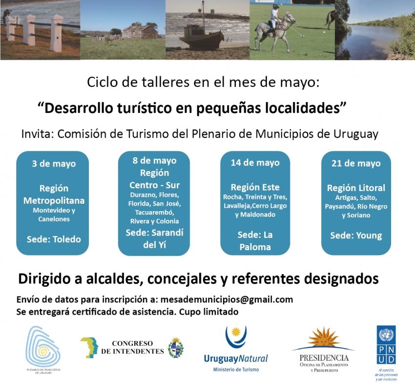 Talleres de Desarrollo Turístico para municipios en mayo