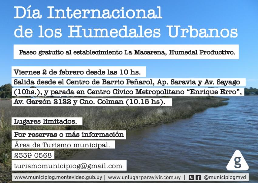 Municipio G invita en el Día Internacional de los Humedales