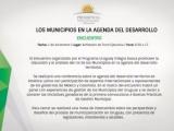 """Seminario """"Los Municipios en la Agenda del Desarrollo"""", 1 de diciembre, Torre Ejecutiva"""